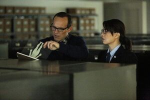 Phillip Coulson (Earth-199999) and Melinda May (Earth-199999) from Marvel's Agents of S.H.I.E.L.D. Season 1 21 001