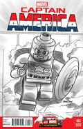 Captain America Vol 7 12 LEGO Sketch Variant