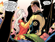 Emma Frost (Earth-616) and Scott Summers (Earth-616) from New X-Men Vol 1 138 0001