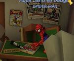 Spider-Man at J J Jameson's Office
