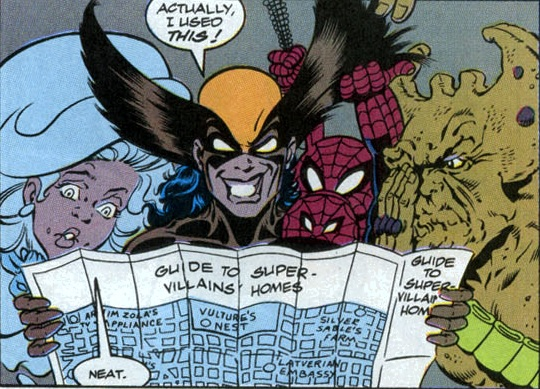 File:Peter Porker (Earth-8311), Logana, Milk, Cookies, Guide to Super-villains' Homes (Earth-9047) from What The-- Vol 1 20.jpg