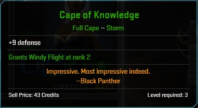 Equipment-Capes-Cape of Knowledge (Storm L3 9)