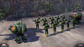 Environmental hydra soldiers beach