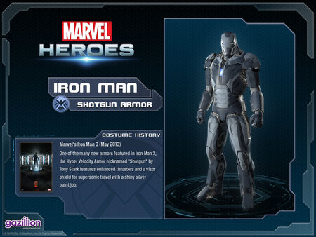 Costume ironman shotgun