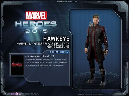 Costume hawkeye AoU