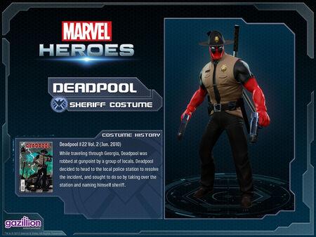 Costume deadpool sheriff