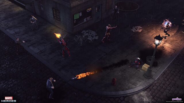 File:Iron Man, Deadpool, and Rocket Racoon clean up Hells Kitchen.jpg