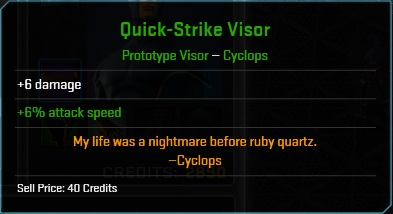 Equipment-Visor-Quick-Strike Visor (Cyclops 6)