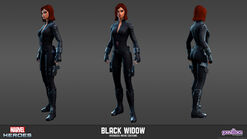 Black Widow Avengers Movie Model