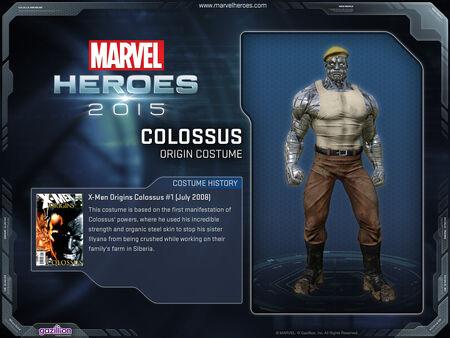 Costume colossus origin