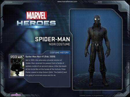 Costume spiderman noir