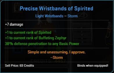 Equipment-Wristbands-Precise Wristbands of Spirited (Storm 7)