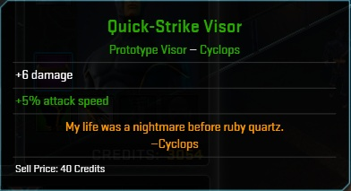 Equipment-Visor-Quick-Strike Visor (Cyclops 6,5)