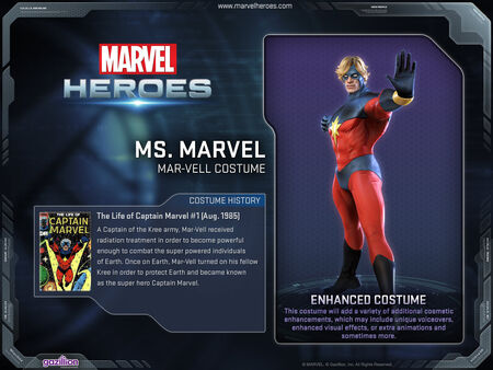 Costume msmarvel MarVell