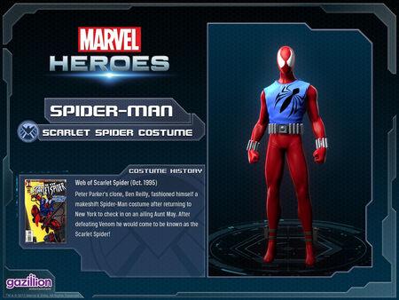 Costume spiderman scarletspider