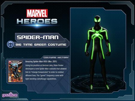 Costume spiderman bigtimegreen