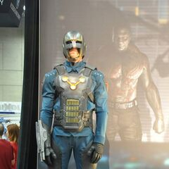 A Nova Corps Uniform on display at San Diego Comic Con 2013.