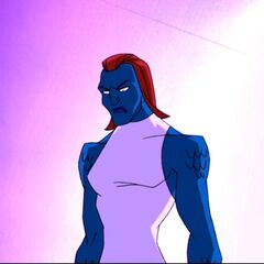 Mystique after her enhancements.