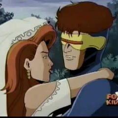 Cyclops at his wedding.