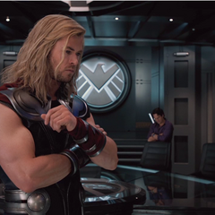 Black Widow, Thor, Bruce Banner, Captain America