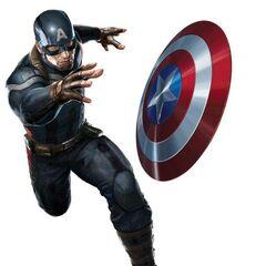 Promotional art of Captain America's new uniform.