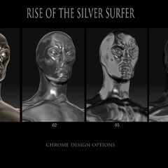 Concept art for the Silver Surfer