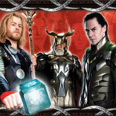 Thor, Odin, and Loki.