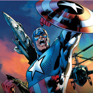 Promotional Poster of Captain America.