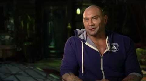 Marvel's Guardians of the Galaxy Dave Bautista Behind the Scenes Movie Interview