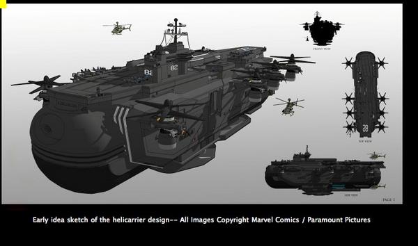 Avengers Helicarrier Concept Art 1