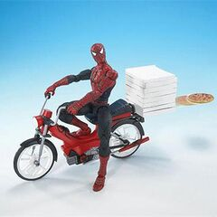 Pizza-Launching Spider-Man