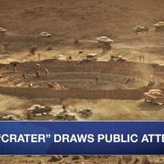 Crater in New Mexico rumored to have held #Thor's hammer continues to draw crowds. #Newsfront