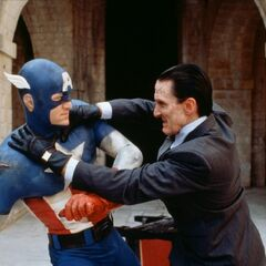 Captain America fighting <a href=