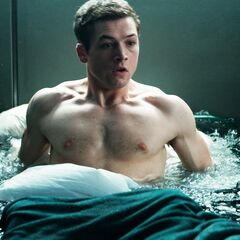 The room Eggsy and the others are in floods