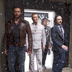 Peter with Logan, Erik and Charles.