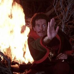 Dr. Strange casting a spell.