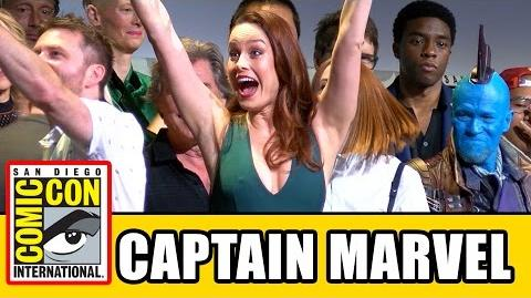 CAPTAIN MARVEL Announced at Marvel Comic Con 2016 Panel - Brie Larson
