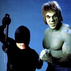 The Hulk with Daredevil