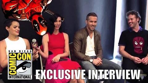 Ryan Reynolds, Morena Baccarin, TJ Miller & Brianna Hildebrand's DEADPOOL Interview (HD) SDCC 2015