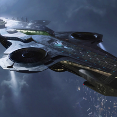 Concept art for the Helicarrier.