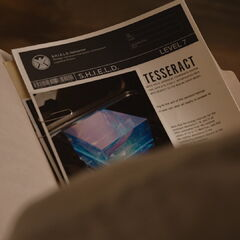 Steve Rogers reviews S.H.I.E.L.D.'s file on Tesseract.