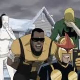 Ava as White Tiger and Power Man, Nova, and Ironfist.