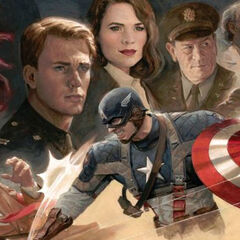 Captain America art.