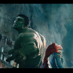 Black Widow and Hulk concept art