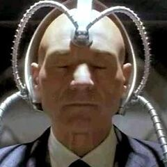 Charles hooked up to Dark Cerebro