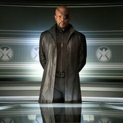 Nick Fury: S.H.I.E.L.D. commander.