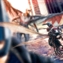 Ant-Man with Falcon.
