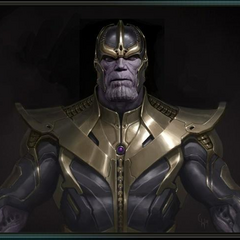 Digital concept art for Thanos.