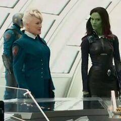 Nova Prime and Gamora