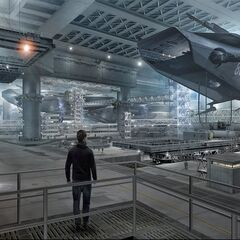 Concept art for Project Insight hangar.